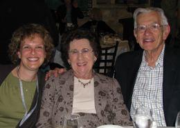 Hana Gruenberg, Federation Mission staff, with Rae an Rabbi Arnold Goodman.