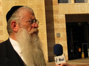 Meir Porush is one of the candidates in the Jerusalem mayoral race, which will be decided in voting on Tuesday.