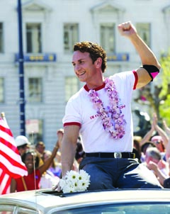 Sean Penn plays gay rights activist Harvey Milk. (Photo: Focus Features)