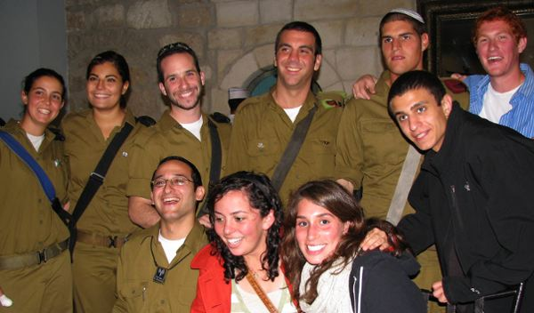 "IDF ""lone soldiers"" and Minnesotans serving in the Israeli army, along with Minnesotans studying in Israel, joined the Israel @ 60 Mission for dinner on Monday at the Mt. Zion Hotel"
